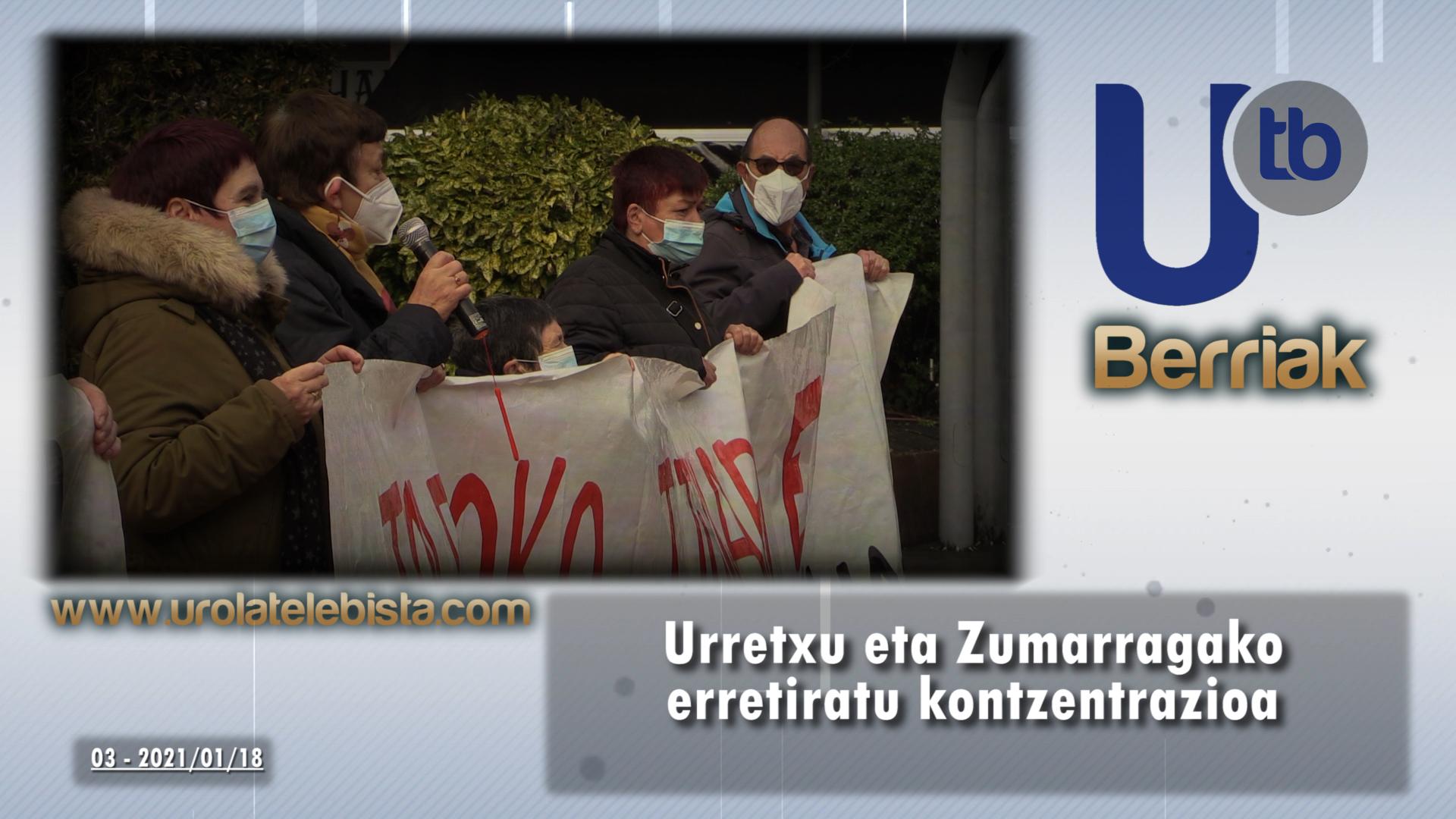 Urretxu eta Zumarragako erretiratu kontzentrazioa / Concentración de jubilados de Urretxu y Zumárraga
