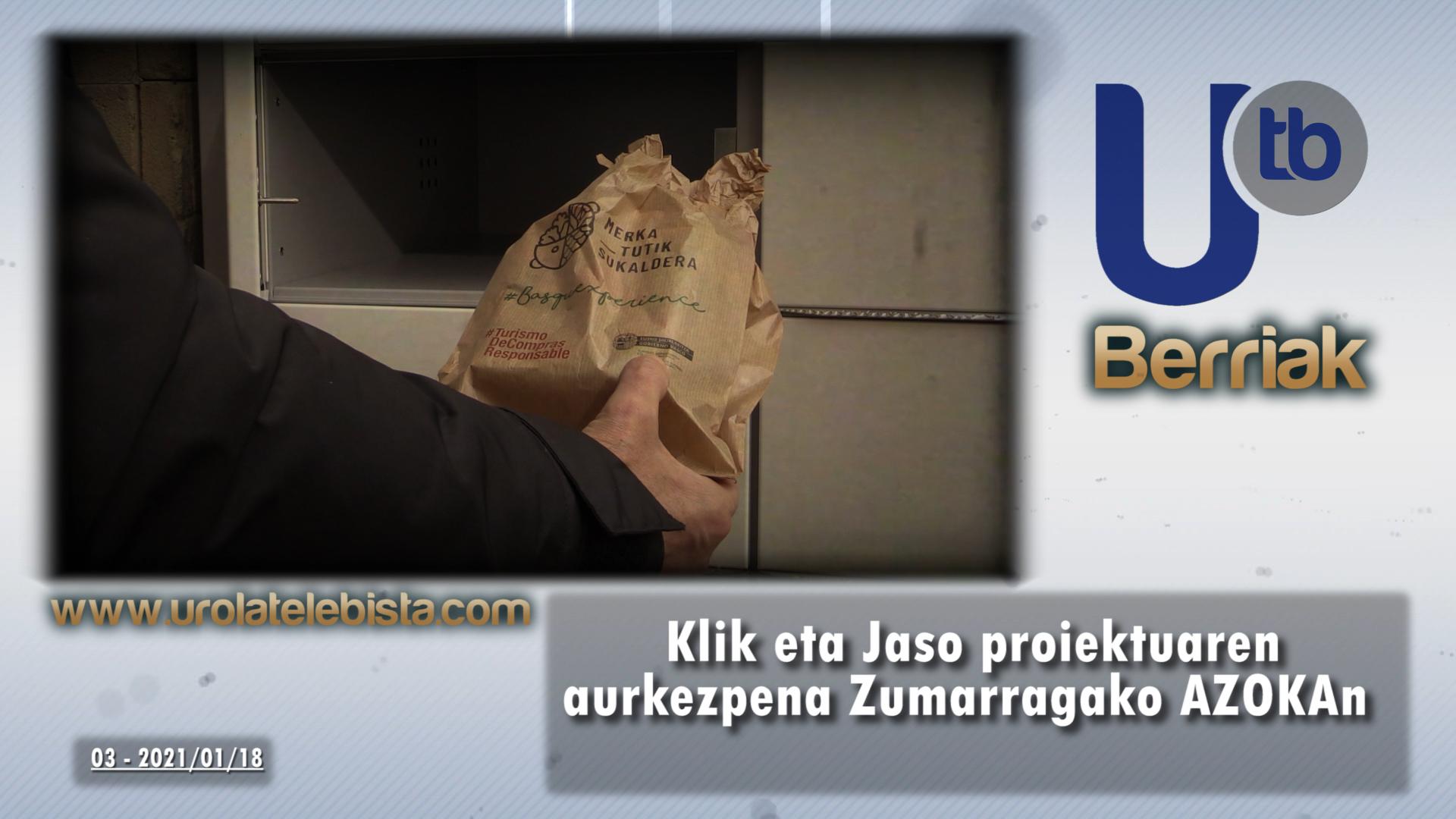 """Klik eta Jaso proiektuaren aurkezpena Zumarragako AZOKAn / Presentación de """"Klik eta Jaso"""" en Zumarragako AZOKA"""