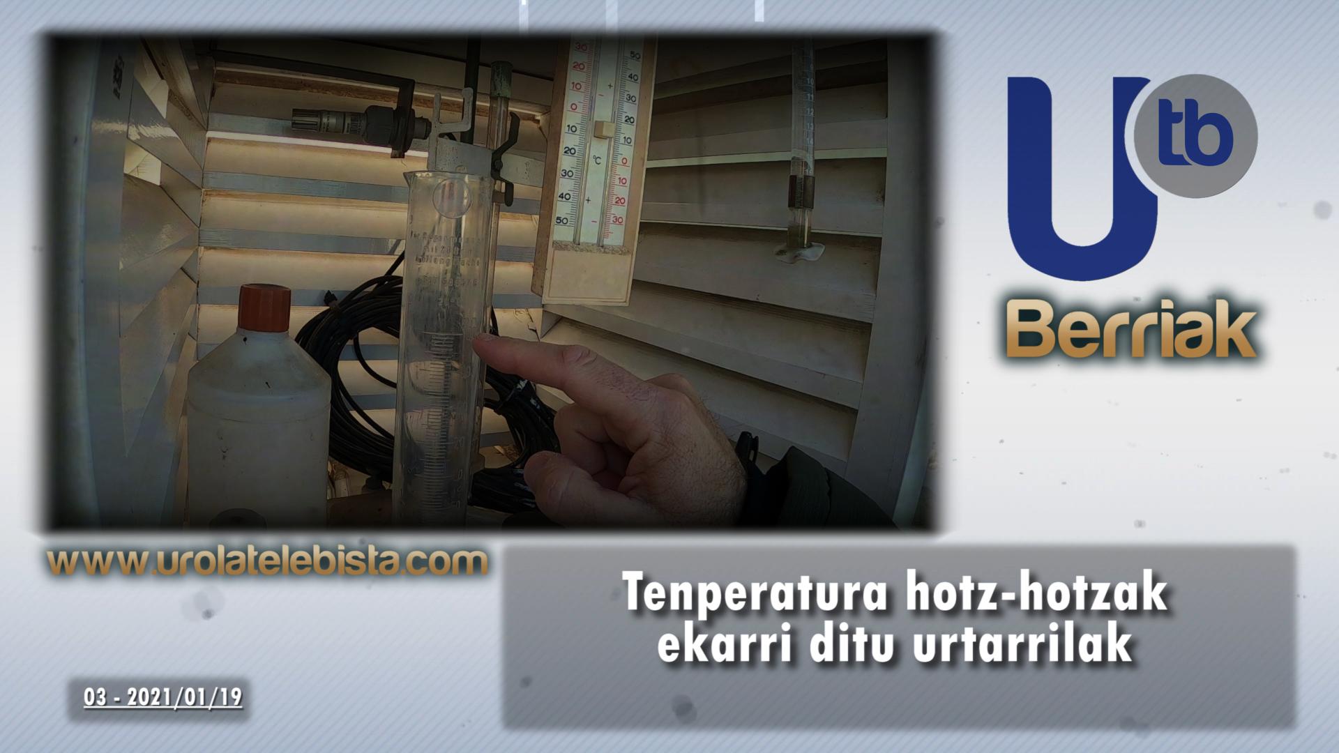 Tenperatura hotz-hotzak ekarri ditu urtarrilak / Enero trae temperaturas gélidas