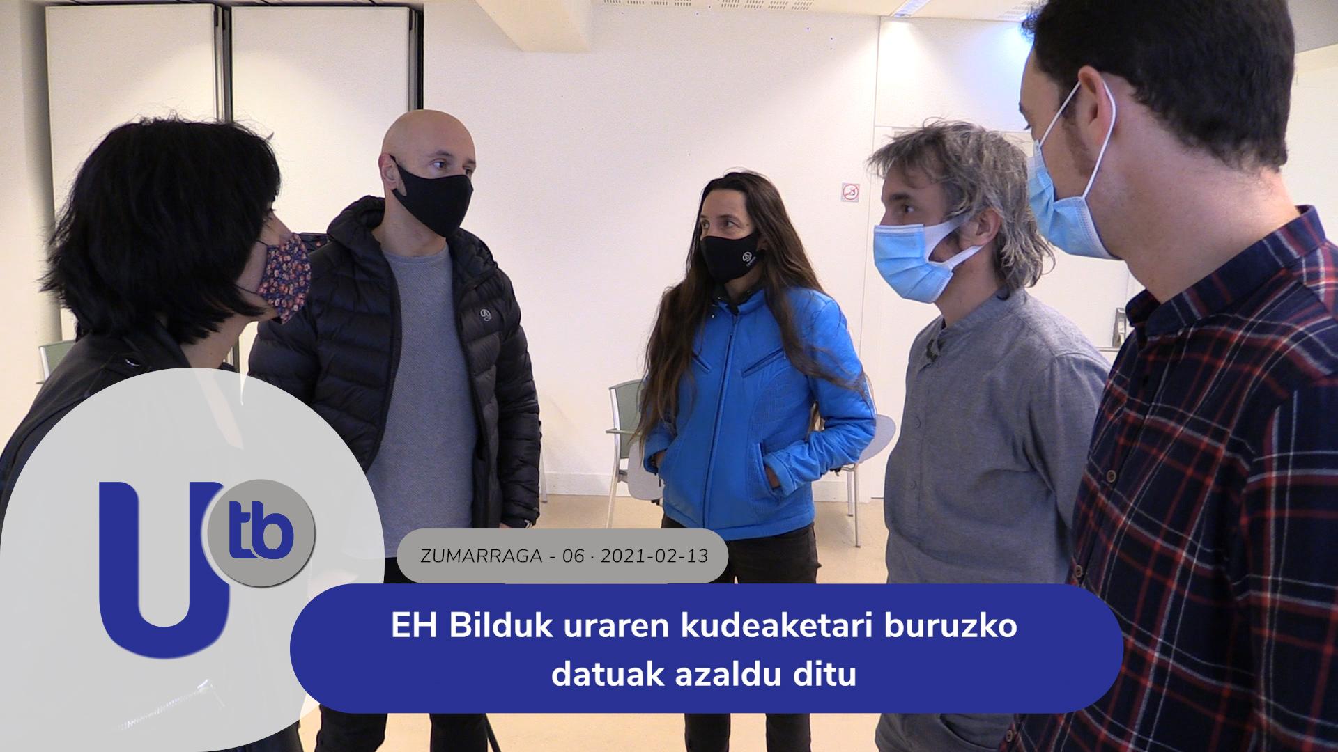 EH Bilduk uraren kudeaketari buruzko datuak azaldu ditu / EH Bildu expone los datos de la gestión del agua