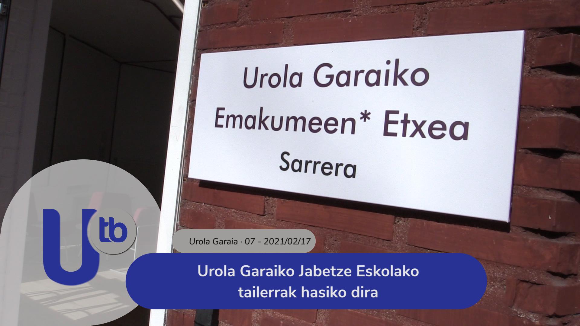 Urola Garaiko Jabetze Eskolako tailerrak hasiko dira / Comienzan los talleres de la Escuela de empoderamiento de Urola Garaia