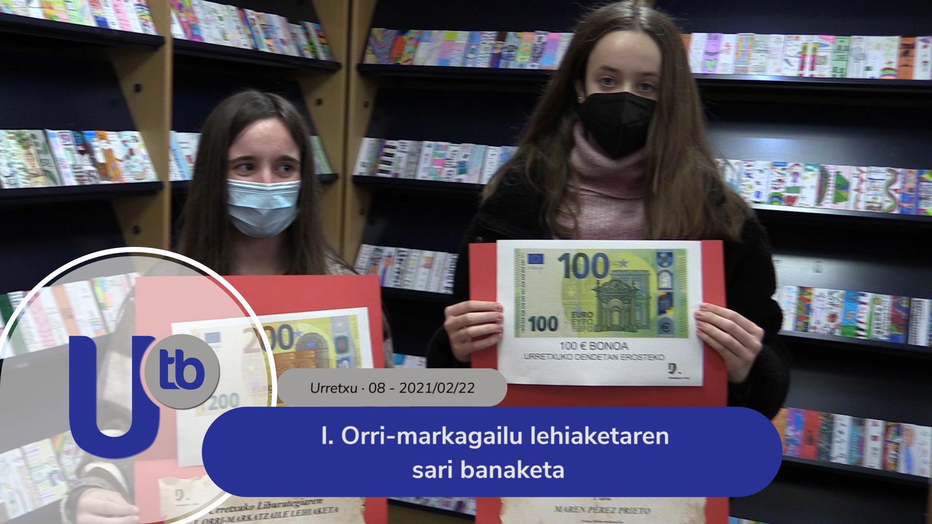 I. Orri-markagailu Lehiaketaren sari banaketa / Entrega de premios del I. Concurso de Marcapáginas