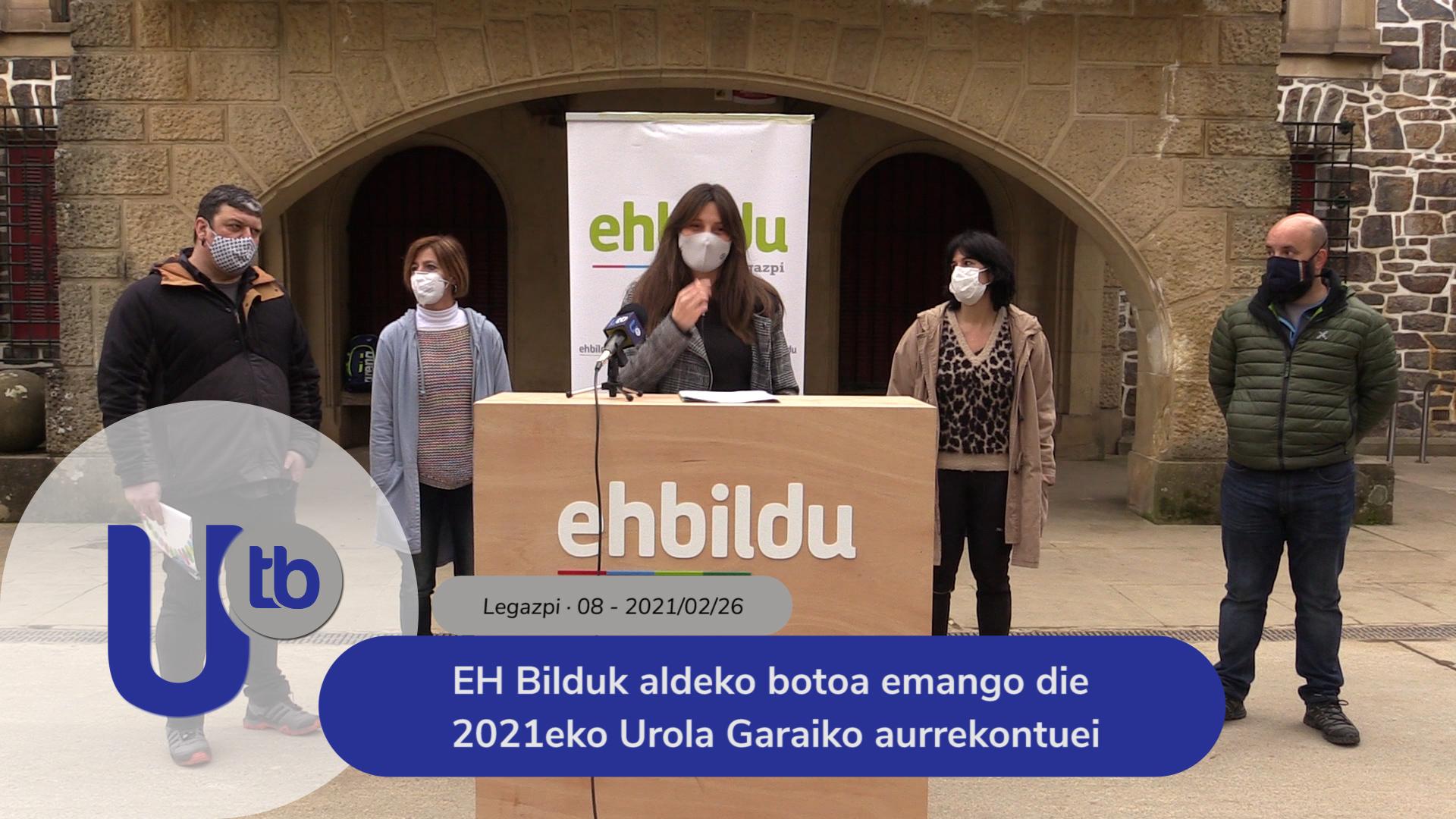 EH Bilduk aldeko botoa emango die 2021eko Urola Garaiko aurrekontuei / EH Bildu votará a favor los presupuestos de 2021 de Urola Garaia