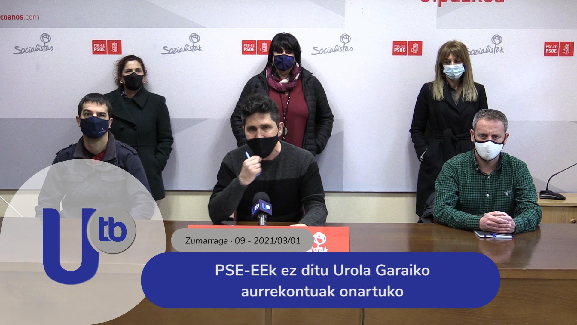 PSE-EEk ez ditu Urola Garaiko aurrekontuak onartuko / PSOE no apoya los presupuestos de Urola Garaia