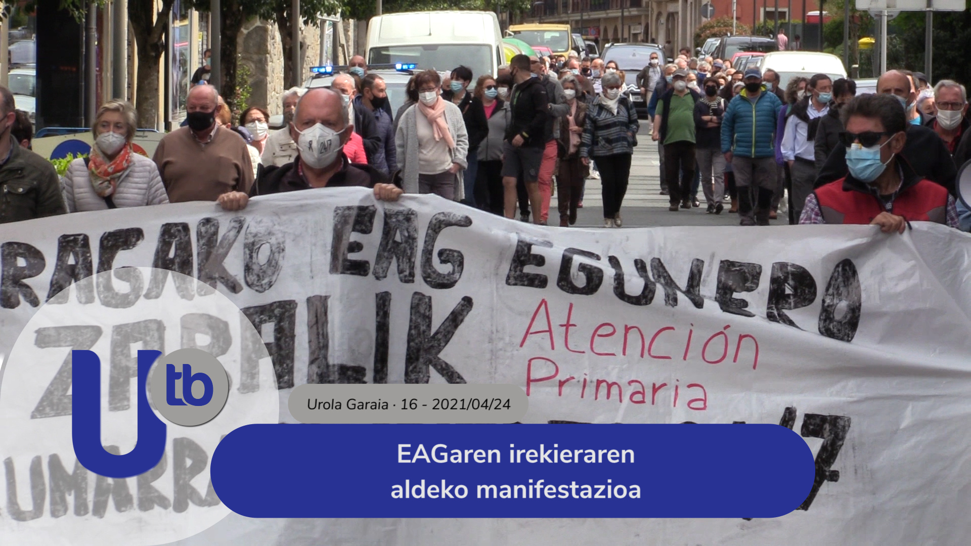 EAGaren irekieraren aldeko manifestazioa / Manifestación para la reapertura del PAC