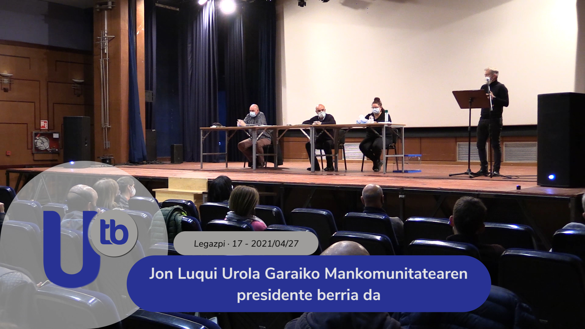 Jon Luqui Urola Garaiko Mankomunitatearen presidente berria da / Jon Luqui es el nuevo presidente de la Mancomunidad de Urola Garaia