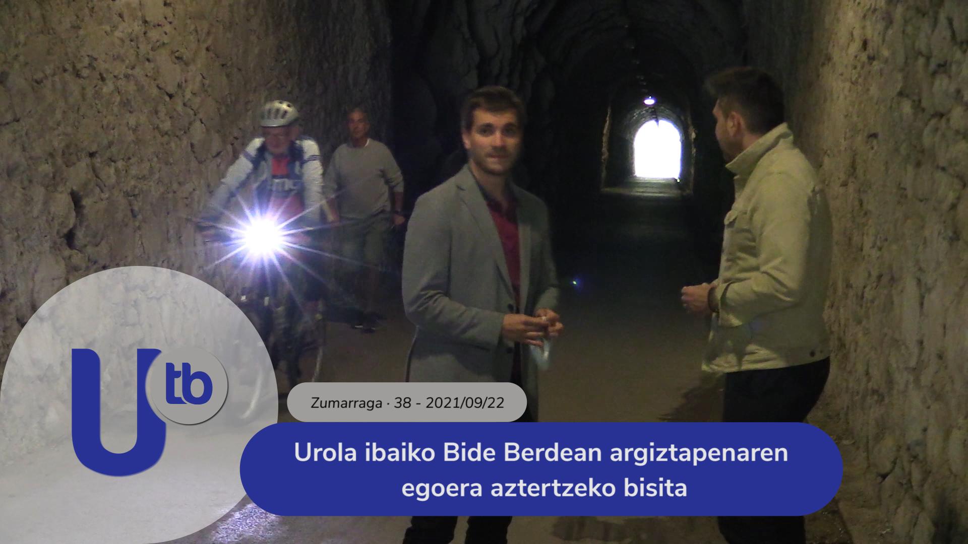 Urola ibaiko Bide Berdean argiztapenaren egoera aztertzeko bisita / Visita para observar la situación de la iluminación en la Vía Verde del Río Urola
